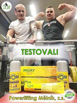 Powerlifting Mělník, z.s. testivali thajské oleje a krémy Namman Muay
