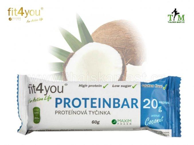 Proteinová tyčnka s kolagenem kokos Fit4you