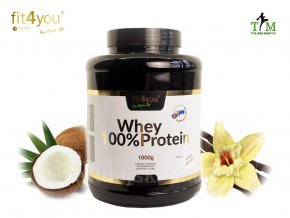 Whey Protein Fit4you vanilka kokos 1000g