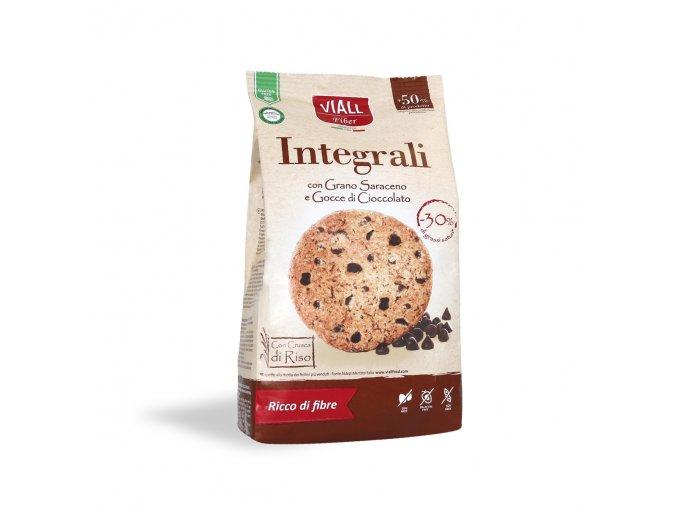 Pohankové sušenky s kousky čokolády bezlepkové