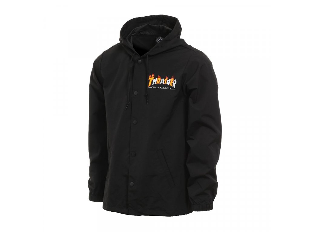 86870aaacfc9 Thrasher flame mag coach jacket black 1024x1024