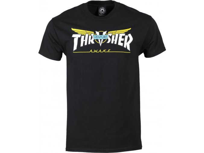 THRASHER x VENTURE COLLAB TEE BLACK
