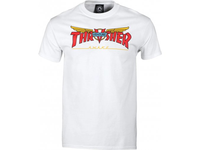 THRASHER x VENTURE COLLAB TEE WHITE