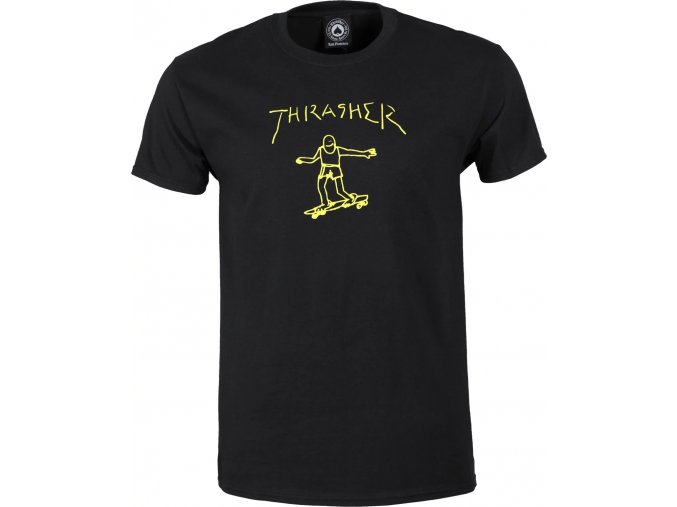 THRASHER GONZ TEE BLACK