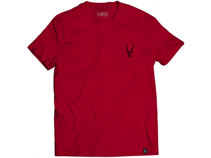 ANTIZ WEAR big script tee cherry red 2