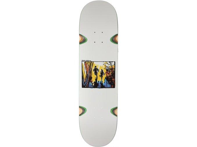 polar skate co halberg run away 85 wheel well skateboard deck