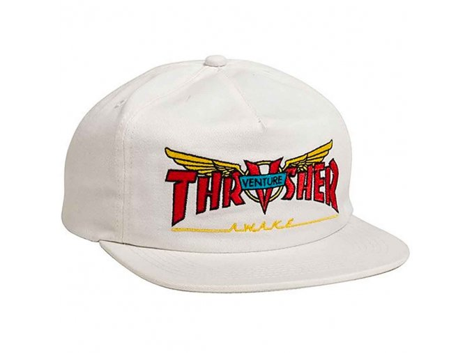 Thrasher Venture Trucks Snapback Hat White