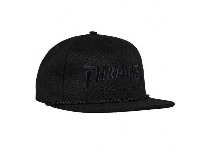 ksiltovka thrasher rope snapback black black