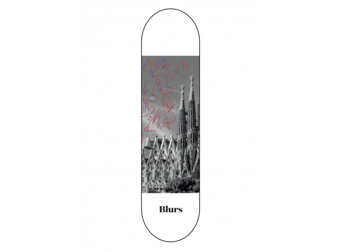 SAGRADA FAMILIA SKATEBOARD DECK BLURS BEARINGS 1086x1536