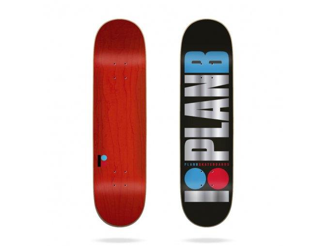 product p l plan b skateboad team og black ice 8 25 skateboard deck