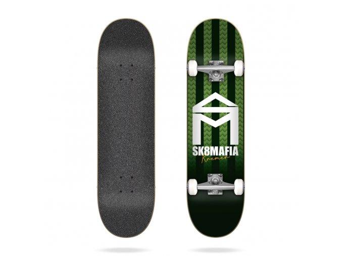 product s k sk8mafia house logo stripe kremer 8 0 complete skateboard