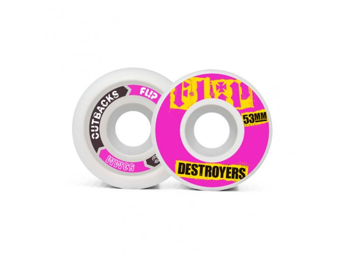 product f l flip cutback destroyers 53mm 99a pink wheels pack