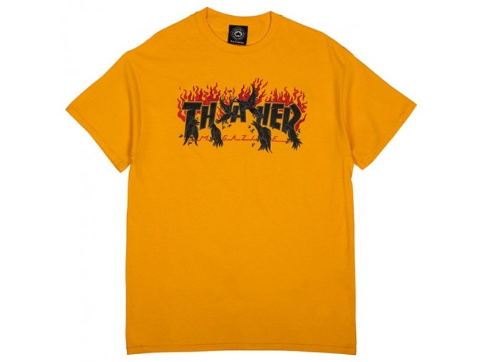 crows gold t shirt flat 600px