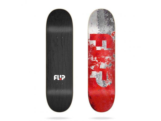 flip team distortion red 8 0 skate deck 1