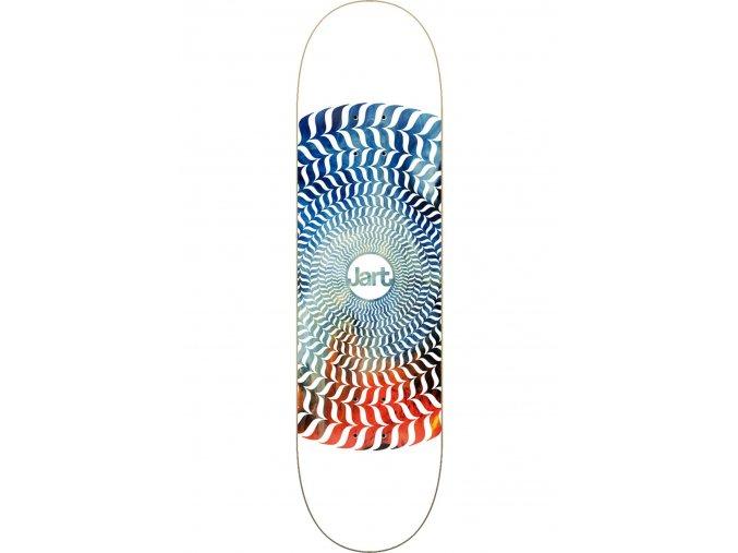 jart skateboard decks spiral white blue red vorderansicht 0265953