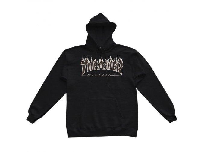 flamelogo black black hoodie 650 2 1