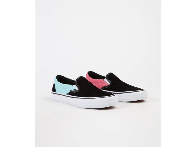 vyrp12 2419vans slip on pro asymmetry shoes black blue rose 2