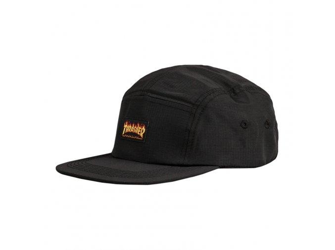 vyr 1297thrasher flame logo 5 panel hat black 1