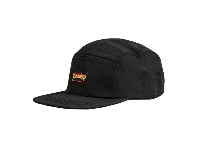 vyr 1297thrasher flame logo 5 panel hat black 1