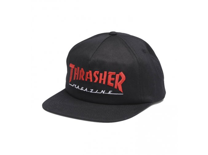 thrasher magazine logo two tone hat 3131349 blkred black red