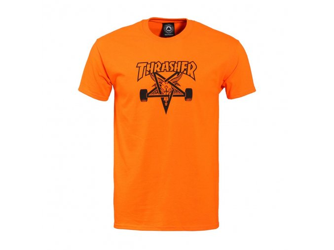 vyr 2055thrasher t shirts thrasher skategoat t shirt safety orange