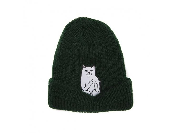 Lord Nermal Ribbed Beanie (Forest) Detail