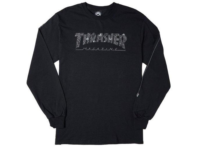 vyr 2057t shirt a manches longues thrasher web ls noir