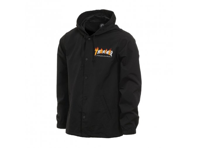 Thrasher flame mag coach jacket black 1024x1024