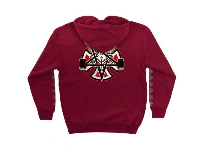 in pentagramcross pullover cardinal back