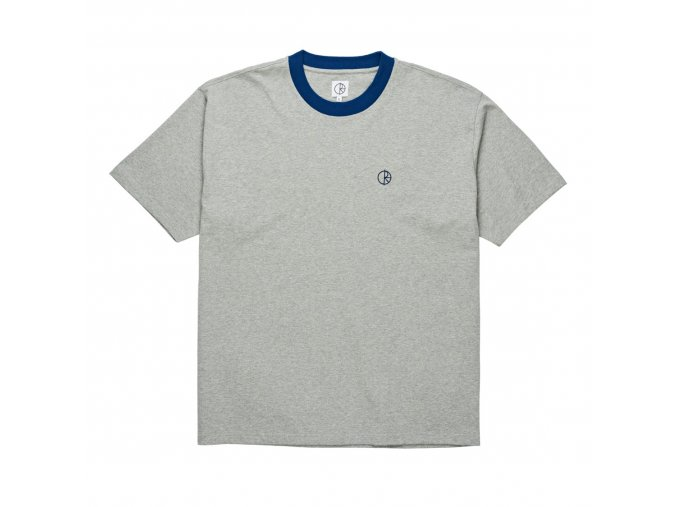 RINGER TEE HEATHER GREY 1