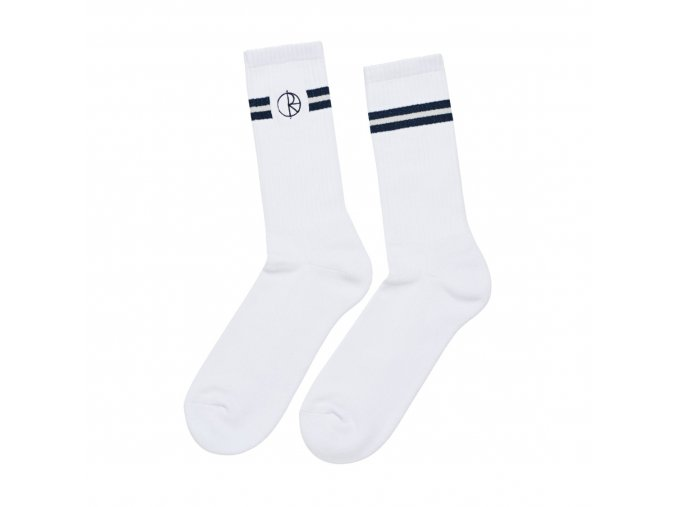 STROKE LOGO SOCKS WHITE
