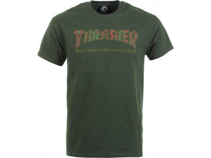 thrasher davis t shirt forest green