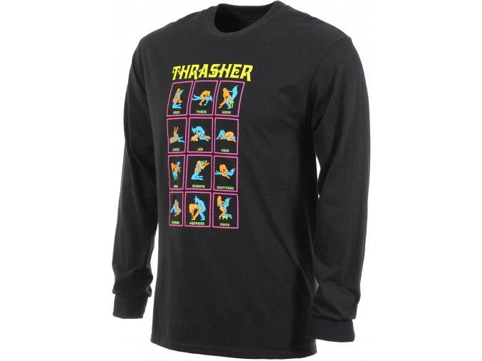 THRASHER BLACK LIGHT LONGSLEEVE BLACK