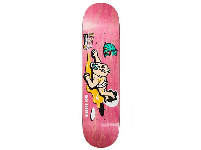 polar nick boserio cleo skateboard deck assorted colours 8 0 1