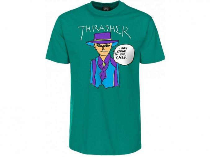 THRASHER GONZ CASH TEE JADE