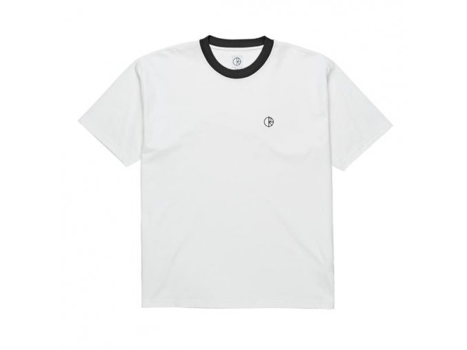POLAR SKATE CO. RINGER TEE WHITE/BLACK