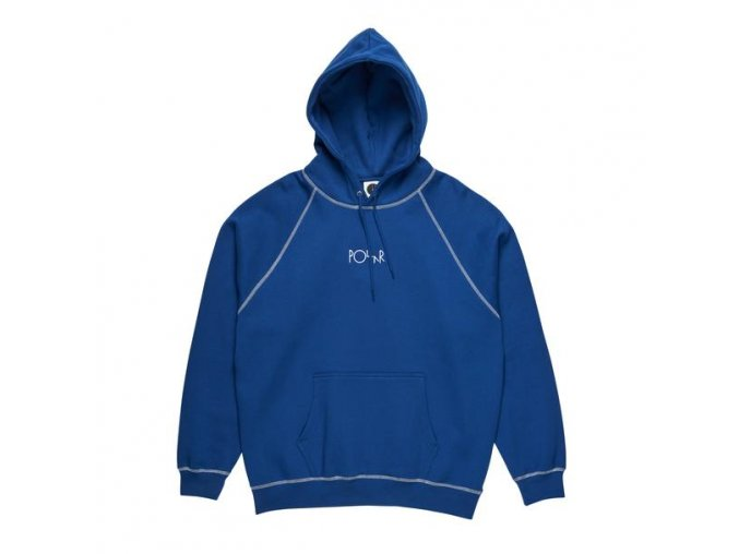 POLAR SKATE CO. CONTRAST DEFAULT HOODIE DARK BLUE/WHITE