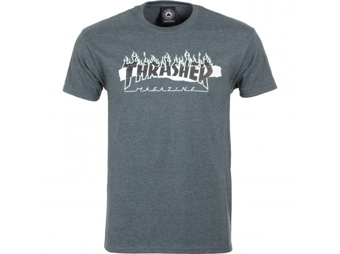 rd thrasher ripped ss tee dark heather