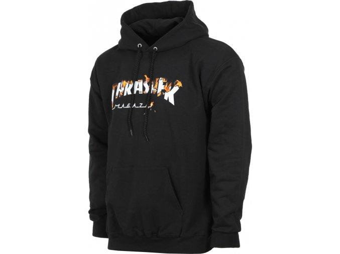 thrasher intro burner hoodie black