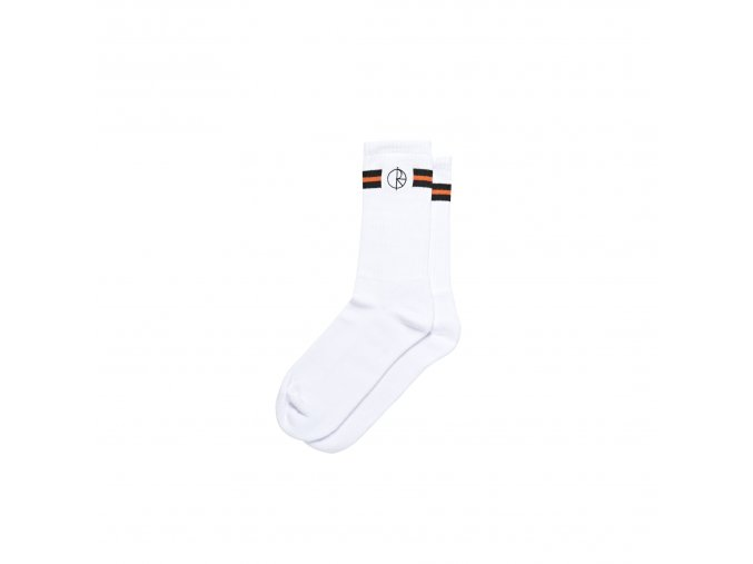 STROKE LOGO SOCKS WHITE 1