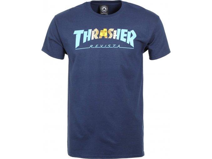 thrasher argentina t shirt navy