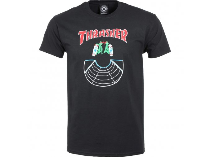 rd thrasher doubles ss tee black