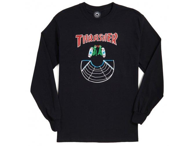 THRASHER DOUBLES LONG SLEEVE BLACK