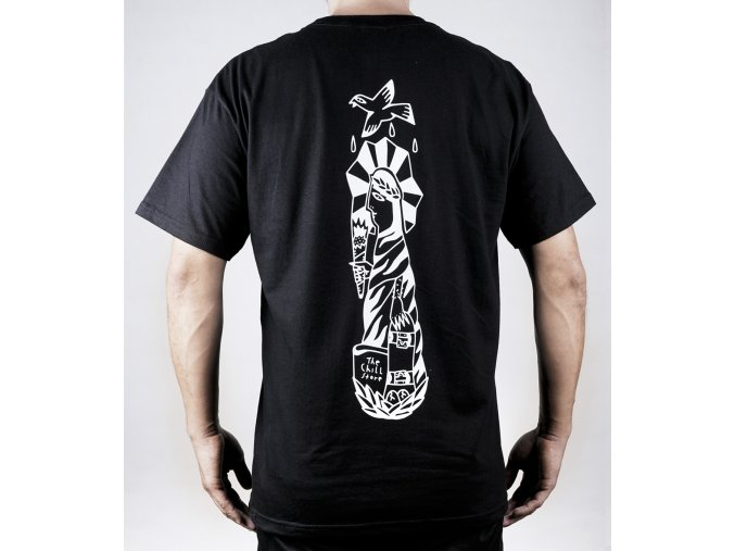 čierne tričko zadná strana