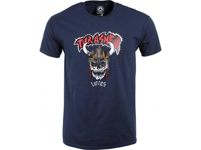 thrasher lotties t shirt navy