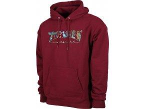 thrasher hieroglyphic hoodie maroon