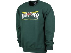 THRASHER x VENTURE COLLAB CREWNECK FOREST GREEN