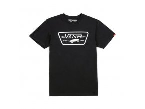 t shirt vans full patch t shirt black white 95598 674 1