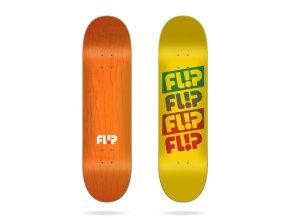 product f l flip team quattro faded yellow 8 0 skateboard deck 2