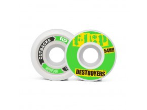 product f l flip cutback destroyers 54mm 99a green wheels pack